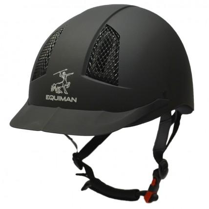 """Шлем пластиковый с регулировкой """"EQUIMAN COOLMAX"""" для верховой езды"""
